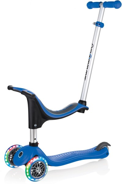 Globber | GO UP 4 in 1 | Lights with Stabilizer | Navy Blau