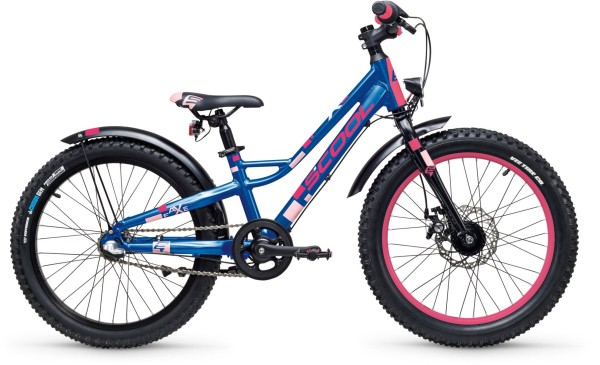 S'COOL | Kindervelo | Faxe 20-Zoll | Blau-pink