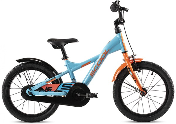 S'COOL | Fahrrad | XXlite Steel 16 | petrol orange